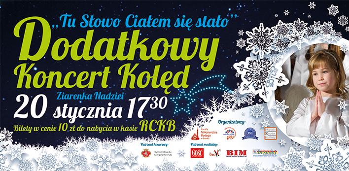 Dodatkowy koncert 20 stycznia o 17:30 w RCKB!